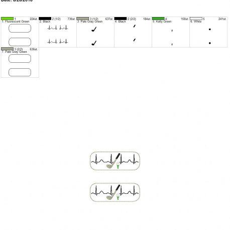 Golf-EKG-Fob 4×4 grouped