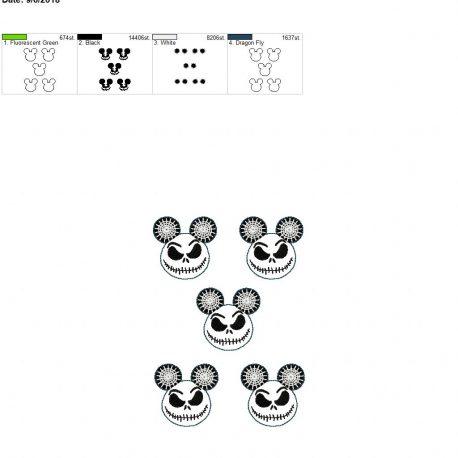 Jack mouse feltie 2inch grouped 5×7