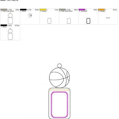 basketball id holder 5×7