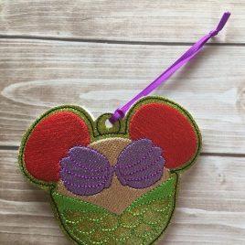 ITH Mermaid Princess Ornament – 4×4- Embroidery Design – DIGITAL Embroidery DESIGN