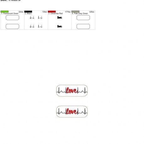 EKG love 4×4 grouped
