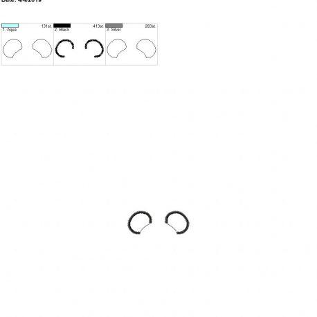 3D Mr Mouse Ear felties 4×4 single