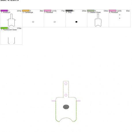 3D Poppy Sanitizer holder snap tab 5×7