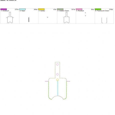 3D pinwheel Sanitizer holder snap tab 5×7