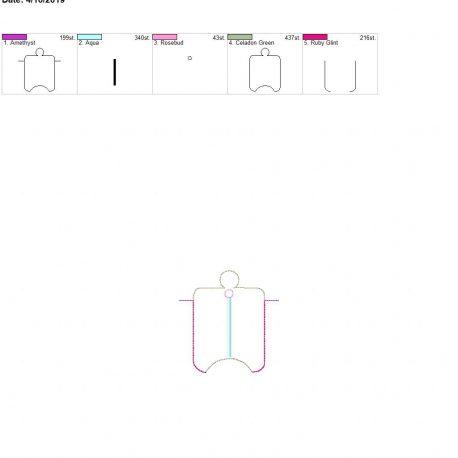 3D pinwheel sanitizer holder eyelet 4×4