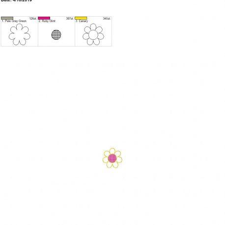 3d flower feltie for Mom design 4×4