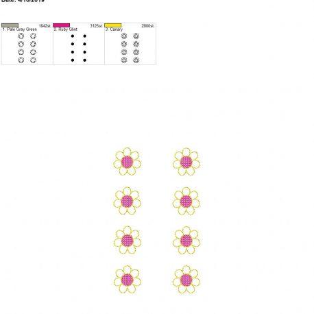 3d flower feltie for Mom design 5×7 grouped