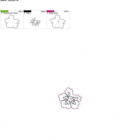 3D hibiscus feltie for lotion holder 4×4 single