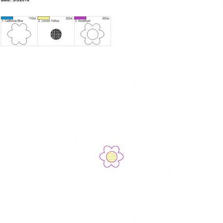 3d spring flower feltie 4×4 single