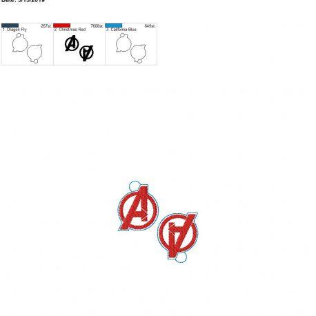 A logo eyelet 4×4 grouped