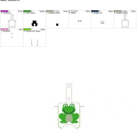 Frog Sanitizer holder snap tab 5×7