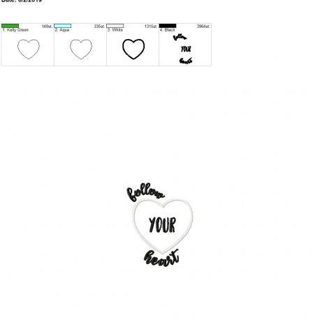 Follow your heart applique 4×4