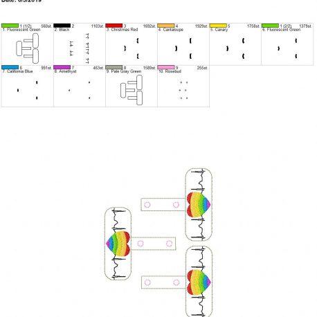 Pride EKG snap tab 5×7 grouped