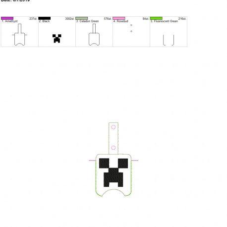 creep Sanitizer holder snap tab 5×7