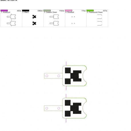 creep Sanitizer holder snap tab 5×7 grouped