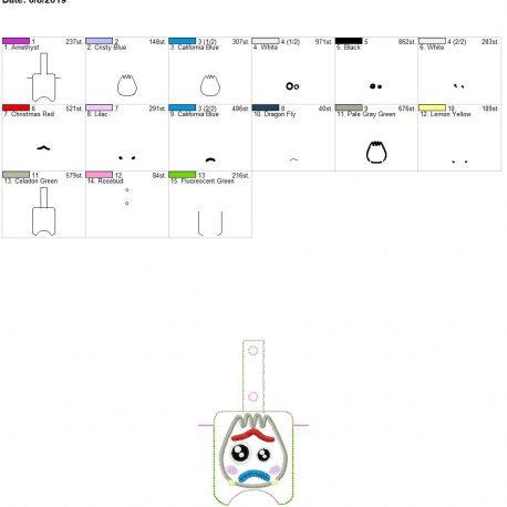 utensil toy Sanitizer holder snap tab 5×7