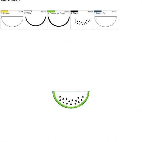 watermelon feltie 3.75inch 4×4 single