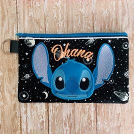ITH – 3D Blue Alien Ohana Zipper Bag 4×4, 5×7 and 6×10 – Digital Embroidery Design