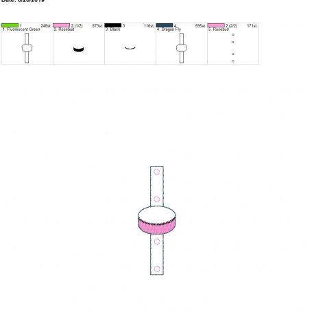 Hockey puck Water bottle holder snaptab 5×7 single