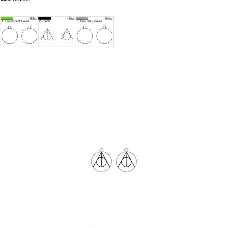 Wizard triangle earrings 4×4
