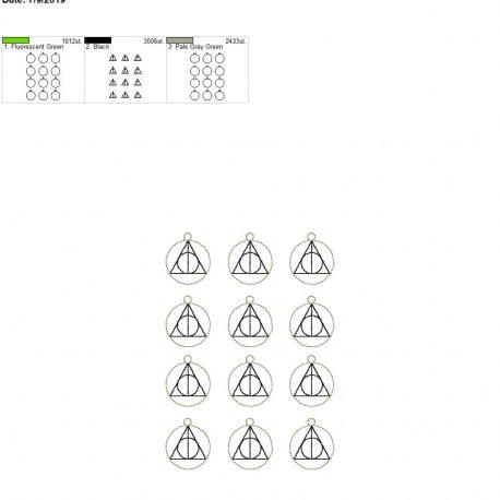 Wizard triangle earrings 5×7 grouped