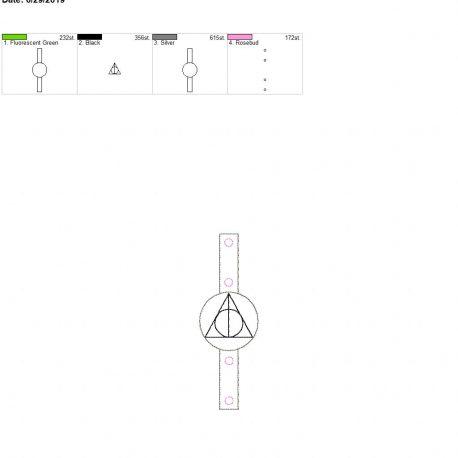 wizard triangle Water bottle holder snaptab 5×7 single