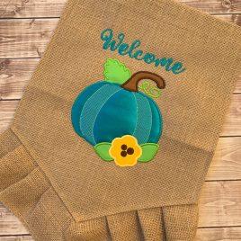 ITH Pretty Pumpkin Applique – 4 Sizes – DIGITAL Embroidery Design
