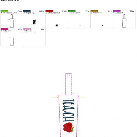 Teach Hand cream holder snap tab 5×7