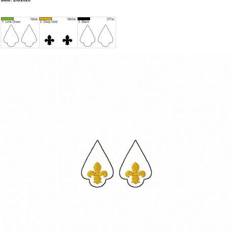 Fleur de lis earrings 1.75 inch set