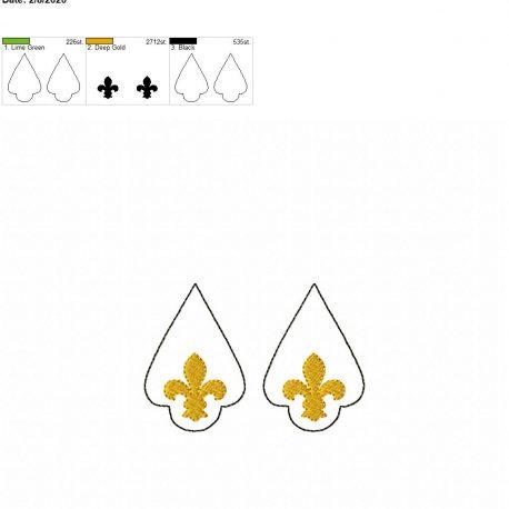 Fleur de lis earrings 2.5 inch set