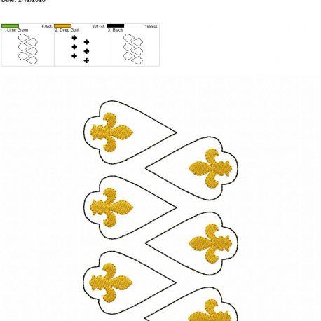 Fleur de lis earrings 2.5 inch set 5×7 grouped
