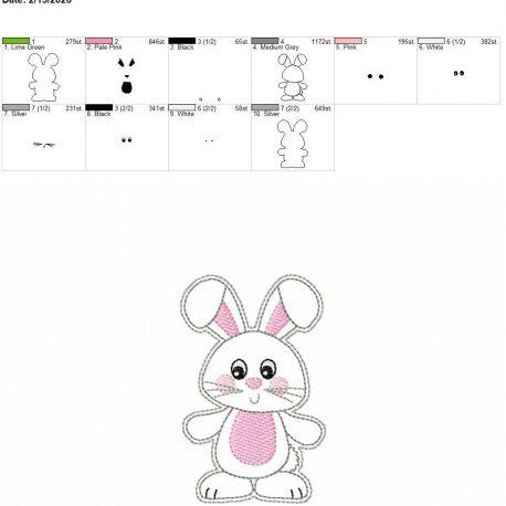 Happy Bunny Feltie 4×4