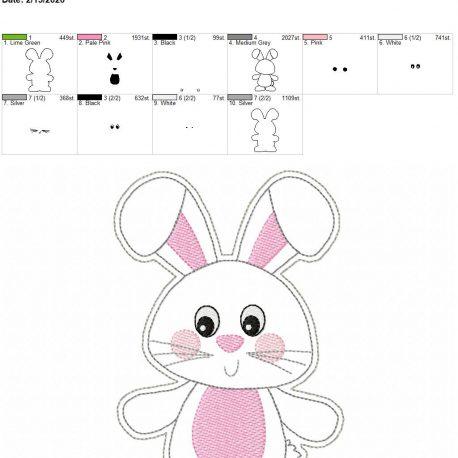 Happy Bunny Feltie 5×7