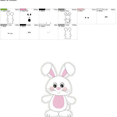 Happy Bunny Feltie 6×10