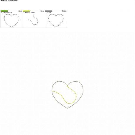 Tennis Heart feltie 2 inch