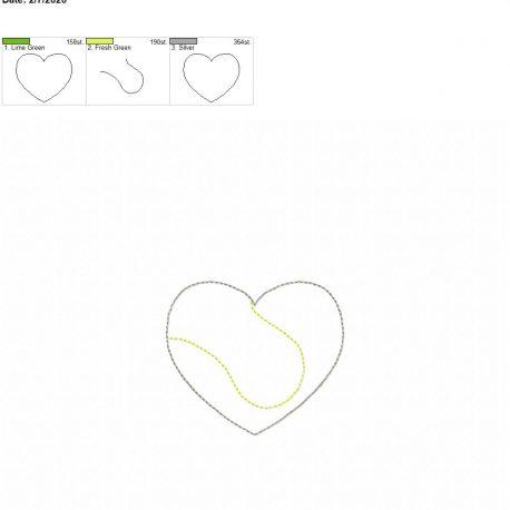 Tennis Heart feltie 3 inch