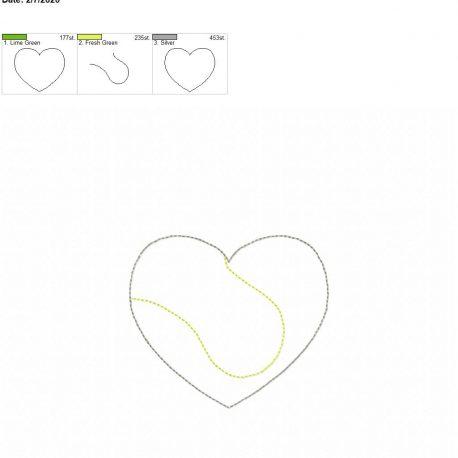 Tennis Heart feltie 3.75 inch