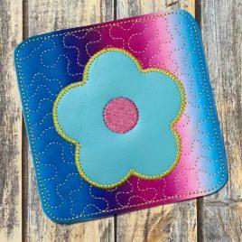 ITH Flower Mug Rug  4×4 – DIGITAL Embroidery DESIGN