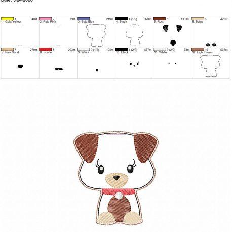 Cute puppy book band 4×4