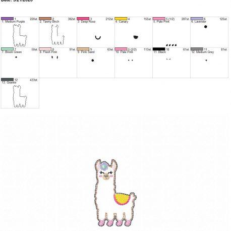 Llama feltie 2.5 inch 4×4