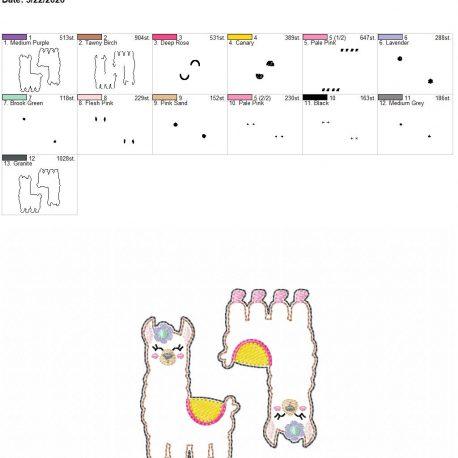 Llama feltie 3 inch 4×4 grouped