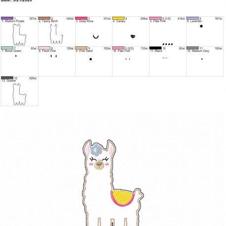 Llama feltie 3.75 inch 4×4