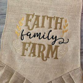 Faith Family Farm – 3 Sizes – Digital Embroidery Design