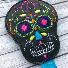 ITH – Sugar Skull 2 – Book Band – Digital Embroidery Design