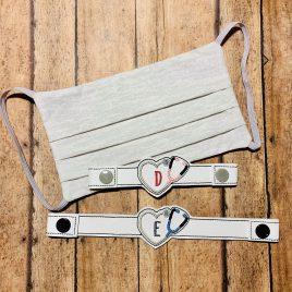 ITH Mask Extender Stethoscope Monogram – 2 sizes – DIGITAL Embroidery DESIGN