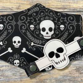 ITH Mask Extender Skull – 2 sizes – DIGITAL Embroidery DESIGN