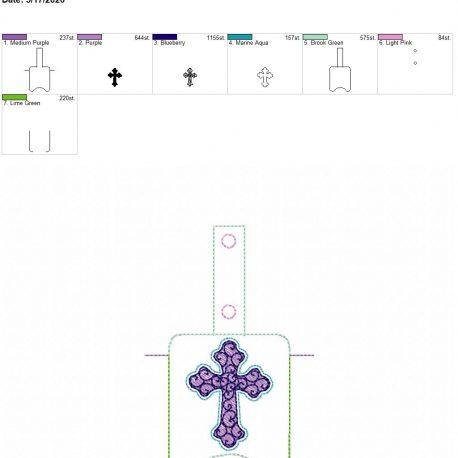 Cross Sanitizer holder snap tab 5×7