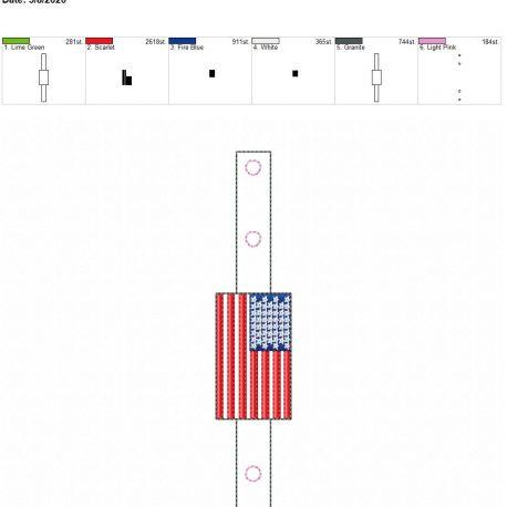 Mask Extender US Flag 5×7