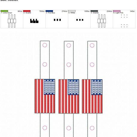 Mask Extender US Flag 5×7 grouped