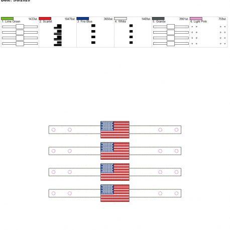 Mask Extender US Flag 6×10 grouped